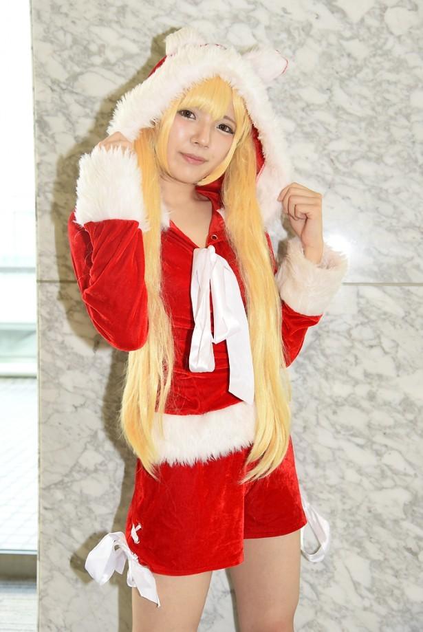 サンタ服のエロ可愛いコスプレ画像 07