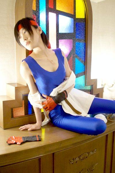 龍虎の拳・KOF ユリ・サカザキのエロいコスプレ画像 12