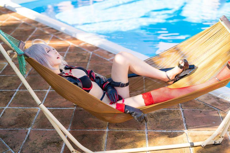 水着ジャンヌ・オルタのエロいコスプレ画像まとめ 13