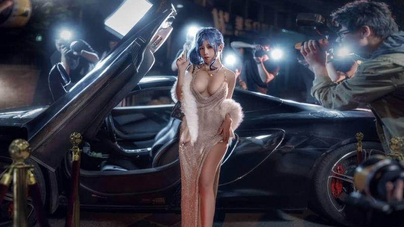 アズールレーン セントルイス Luxury Handle衣装のエロいコスプレ 24