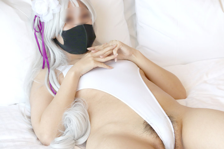 マスクをつけているエロいコスプレ 22